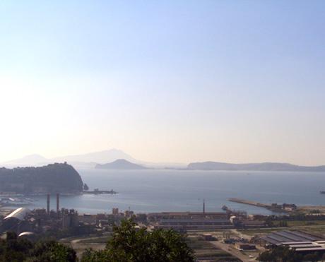 Неаполитанский залив везувий и замок